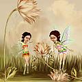 Fairies In The Garden by John Junek