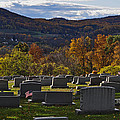 Fairview Cemetery In Autumn by Trish Tritz