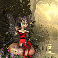 Forest Fairy Playing The Flute by John Junek