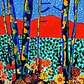 Fall Aspens by Connie Valasco