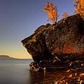 Fall Colours In The Squaw Bay Fallen Rock by Jakub Sisak