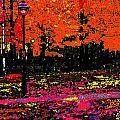 Fall In Red by Burney Lieberman