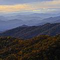 Fall Sunset On The Blue Ridge by Lynn Bauer