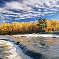 Fall Trees, Rainbow Falls, Whiteshell by Dave Reede