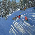 Falling Off The Sledge by Andrew Macara