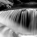 Falling Water Black And White by Rich Franco