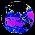 False Colour Image Of The Indian Ocean by Dr Gene Feldman, Nasa Gsfc