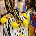 Pow Wow Fancy Dancer Duo by Bob Christopher
