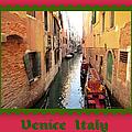 Fancy Gondolas   Venice Canal Italy  by John Shiron