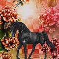Fantasy Black Horse by Smilin Eyes  Treasures