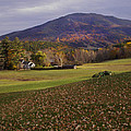 Farm By Ascutney Mountain Vermont by Nancy Griswold