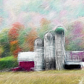 Farm In Fractals by Ericamaxine Price