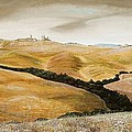 Farm On Hill - Tuscany by Trevor Neal