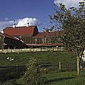 Farm Scene With Barn  by Sally Weigand