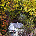 Farmhouse In Fall by Debra and Dave Vanderlaan