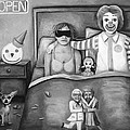 Fast Food Nightmare Bw by Leah Saulnier The Painting Maniac