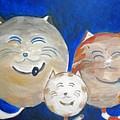 Fat Cat Family by Marian Hebert