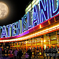 Faux Moon At The Staten Island Ferry by Anne Ferguson