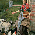 Feeding The Chickens by William Edward Millner