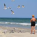 Feeding The Sea Gulls by Roena King