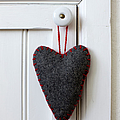 Felt Heart Shape Decoration Hanging On Handle by Bjurling, Hans