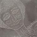 Female  Face  On  Steel  Two by Carl Deaville