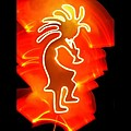 Female Kokopelli by Mark Bell