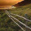 Fence And Sunset, Gooseberry Cove by Yves Marcoux