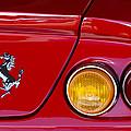 Ferrari Taillight Emblem 2 by Jill Reger