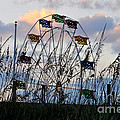 Ferris Wheel At The Beach by Lydia Holly