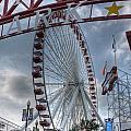 Ferris Wheel At The Pier by David Bearden