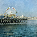 Ferris Wheel On The Santa Monica Pier by Jill Battaglia