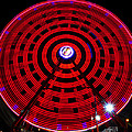 Ferris Wheel Red by David Lee Thompson