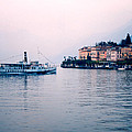 Ferry To Bellagio On Lake Como by Greg Matchick