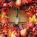 Festive Autumn Wreath by Sandra Cunningham