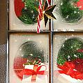 Festive Holiday Window by Sandra Cunningham