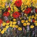 Field Of Flowers With Poppies by Kelli Perk