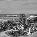 Fiishing Nets At Mudeford Quay by Chris Day