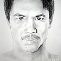 Filipino Superstar And World Champion Boxer Manny Pacquiao by Jim Fitzpatrick