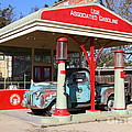 Filling Up The Old Ford Jalopy At The Associated Gasoline Station . Nostalgia . 7d12897 by Wingsdomain Art and Photography