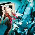 Fine Art Portrait Of Fashion Woman Posing Over Abstract Background by Pavlo Kolotenko