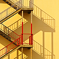 Fire Escape And Shadow by David Buffington