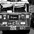 Fire Truck Bw6 by Scott Kelley