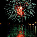 Fireworks Of Green And Red by Bill Pevlor