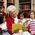 First Lady Barbara Bush Reads by Everett