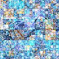 First Time Geometric Blue by Mayhem Mediums