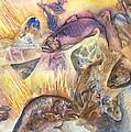 Fish Abstract by Kay Johnson