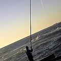 Fisherman Along The Corniche by Teresa Stewart
