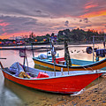 Fisherman Boats by Tuah Roslan
