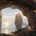 Fisherman In A Grotto Helgoland by Christian Ernst Bernhard Morgenstern